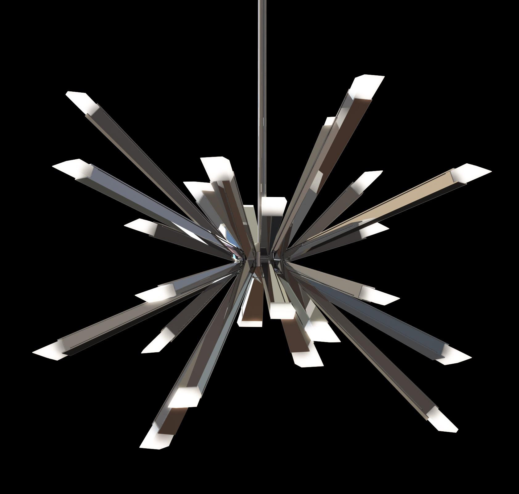 starburst chandelierblack. starburst chandelier – metropolitan